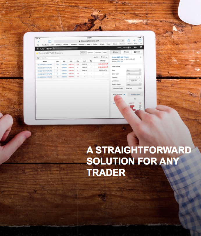 CityTrader Mobile Futures and Options Trading Platform