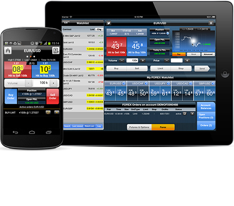 iBroker Futures Options and FOREX Mobile Trading Platform