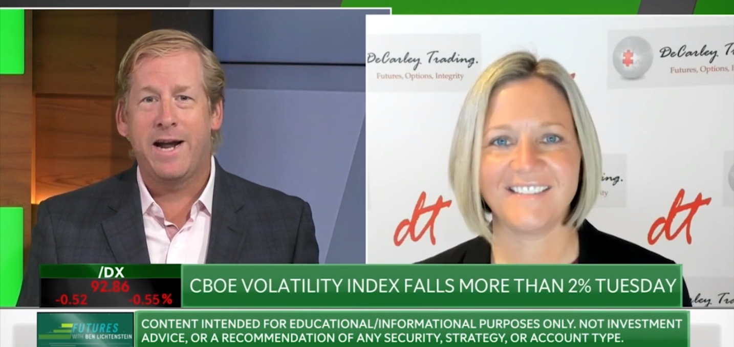 Commodity Broker Carley Garner on TDAmeritrade Network talking futures and options.